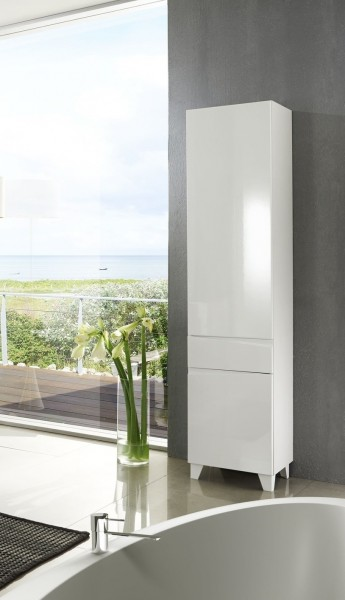 schrank badschrank hochschrank sharpcut typ 12 r hochglanz weiss wohnen. Black Bedroom Furniture Sets. Home Design Ideas