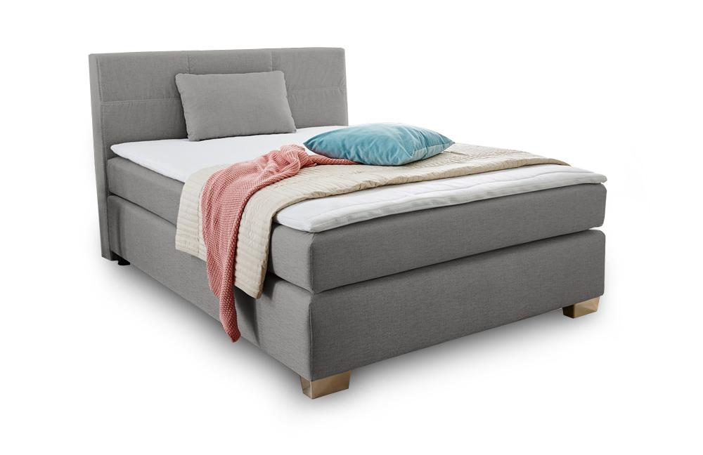 bett boxspringbett 140 x 200 cm inkl topper wohnen. Black Bedroom Furniture Sets. Home Design Ideas