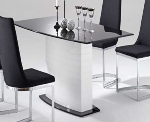 tisch esszimmertisch esstisch empire glas schwarz 90x160 cm ebay. Black Bedroom Furniture Sets. Home Design Ideas